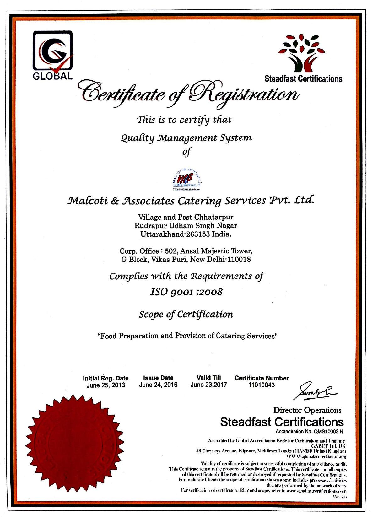 Malcoti and associates our clients certification iso 9001 co qms xflitez Image collections